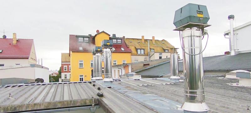exodraft installation på taget af Schwarze bageri